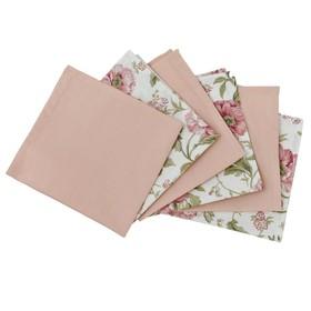Набор салфеток English rose, размер 33 × 33 см - 6 шт, розовый мульти