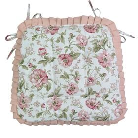 Набор сидушек English rose с рюшами, размер 42х42 см-2 шт., розовый