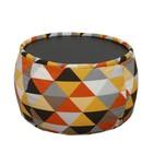 Пуф круглый, размер 60х40 см, серый/оранжевый