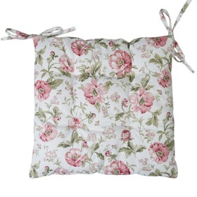 Сидушка на стул English rose, размер 42х42 см розовый