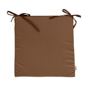 Сидушка на стул, размер 40х40 см, коричневый