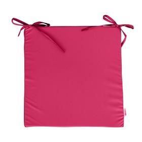 Сидушка на стул, размер 40х40 см, розовый