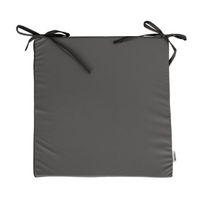 Сидушка на стул, размер 40х40 см, серый