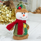 """Soft toy """"Two Christmas trees"""" snowman of 8.5*14 cm, green"""
