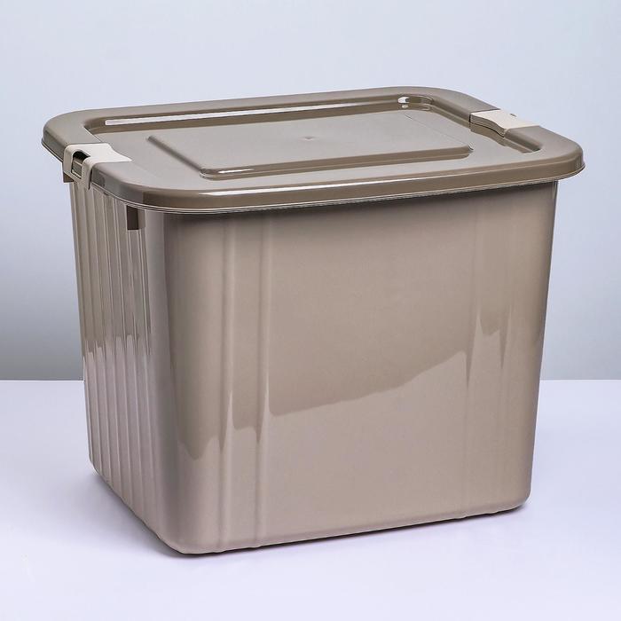 Ящик для хранения с крышкой 60 л, 51×42×41 см, цвет латте - фото 308334993