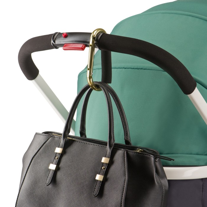 Карабин металлический для сумок на коляску Happy Baby CARABINE, до 15 кг