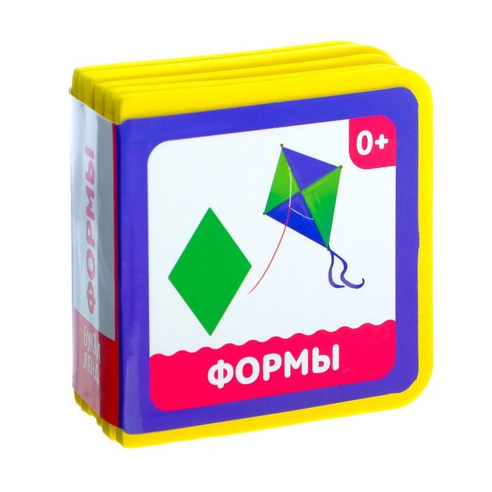 Мягкая книжка- кубик «Формы», ЭВА (EVA), 6 х 6 см, 12 стр. - фото 726848417