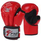 Перчатки для Рукопашного боя FIGHT-2 ОФРБ, с сеткой, 10оz, искусственная кожа, размер М, цвет красный