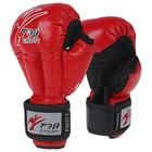 Перчатки для Рукопашного боя FIGHT-1 ОФРБ, 6oz, искусственная кожа, размер S, цвет красный