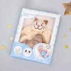 Игрушка для новорождённых «Котик» + повязка