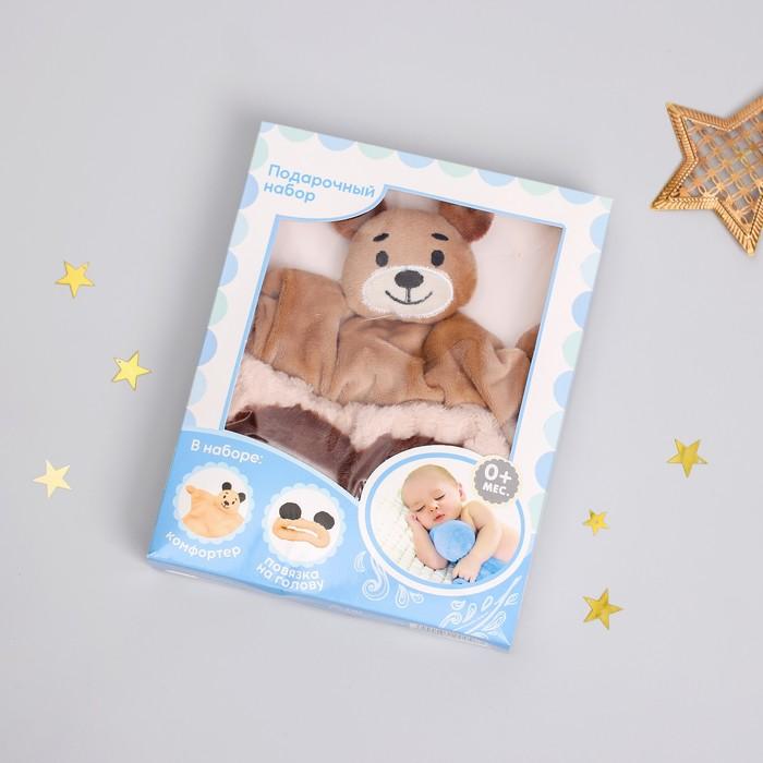 Игрушка для новорождённых «Мишутка» + повязка - фото 105499400