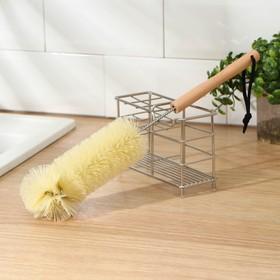Ёршик для посуды с деревянной ручкой 36×7 см