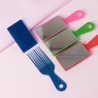Расчёска массажная, двусторонняя, с зеркалом, цвет МИКС