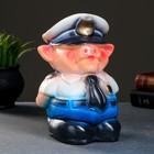 "Копилка ""Поросёнок-шериф"", 15х15х23 см"