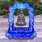 Колокольчик в деревянной рамке «Серафим», 11,5 х 12,5 х 8 см