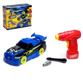 """Designer spiral """"sports Car"""" with an electric drill, 26 details"""