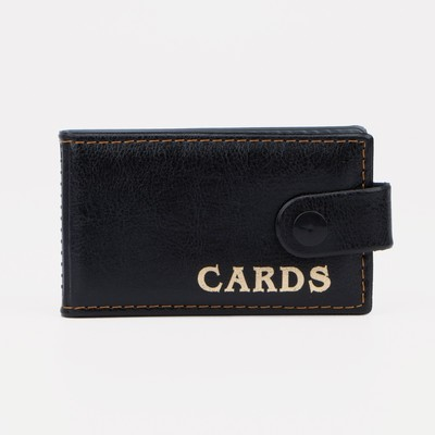 Business card holder horizontal button, 1 row, 18 cardholders, color black