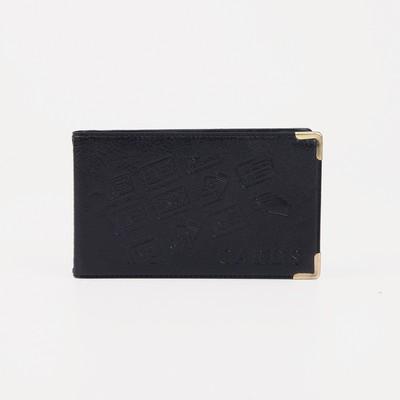 Визитница горизонтальная, 1 ряд, 18 листов, с уголками, цвет чёрный