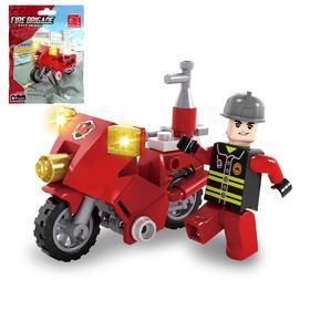 Конструктор «Пожарный байк», 26 деталей