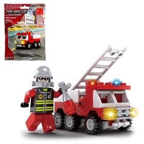 Конструктор «Пожарная машина», 63 детали