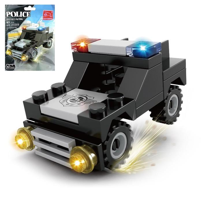 Конструктор «Полицейский джип», 41 деталь - фото 105635825