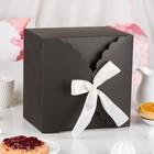 Коробка сборная для сладкого, черная, 22 х 22 х 14,5 см - фото 308275640
