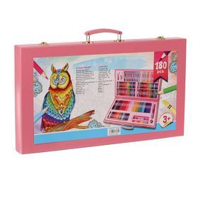 Набор для рисования в розовой коробке