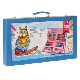 Набор для рисования в голубой коробке