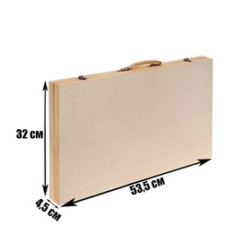 Набор для рисования в деревянной коробке