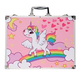 Набор для рисования в розовой коробке, складной