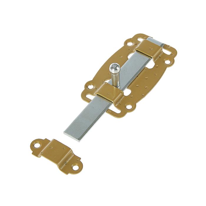 Задвижка дверная ЗД-100-Пл-S, цвет зол. металлик/цинк