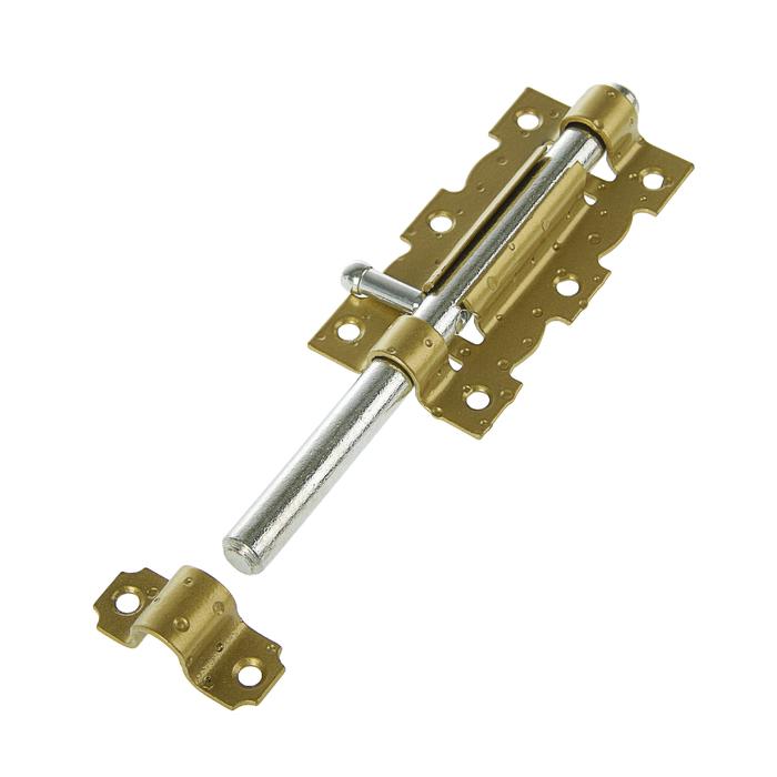 Задвижка дверная ЗД-110-S, цвет золотой металлик/цинк