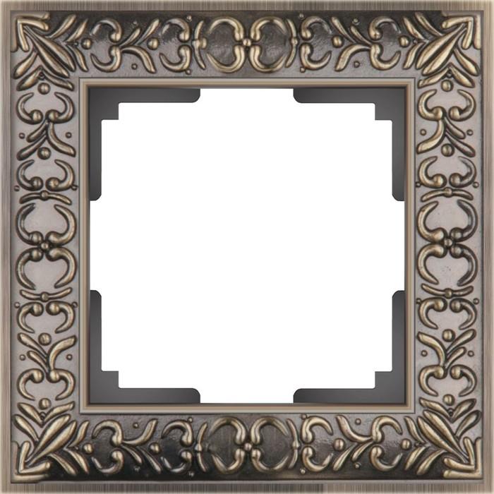 Рамка на 1 пост  WL07-Frame-01, цвет бронза