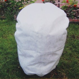 Чехол для растений, прямоугольный на шнурках, 60 × 40 см, спанбонд с УФ-стабилизатором, плотность 42 г/м², набор 2 шт., цвет белый Ош