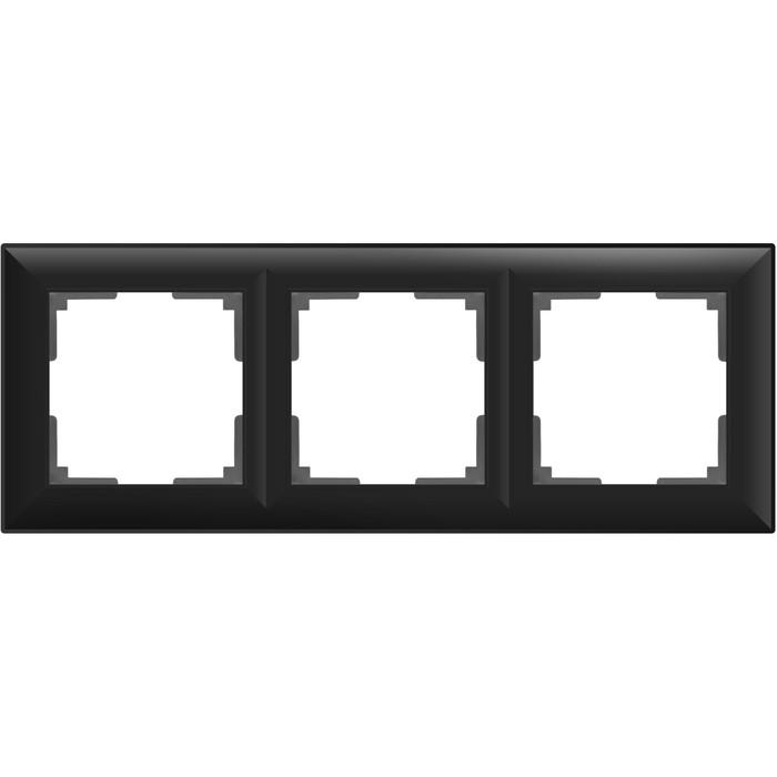 Рамка на 3 поста  WL14-Frame-03, цвет черный