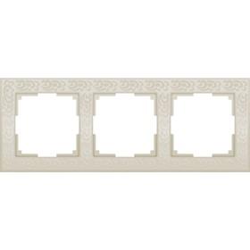 Рамка на 3 поста  WL05-Frame-03-ivory, цвет слоновая кость