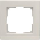 Рамка на 1 пост  WL04-Frame-01-ivory, цвет слоновая кость