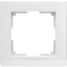 Рамка на 1 пост  WL04-Frame-01-white, цвет белый
