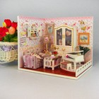 """Интерьерный домик - миниатюра, своими руками """"Комната с роялем"""" со светом"""