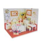 """Интерьерный домик - миниатюра, своими руками """"Спальня с будуаром"""" со светом"""