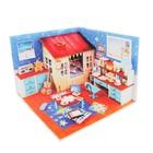 """Интерьерный домик - миниатюра, своими руками """"Детская комната"""" со светом"""