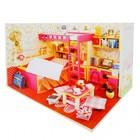 """Интерьерный домик - миниатюра, своими руками """"Спальня двух сестер"""" со светом"""