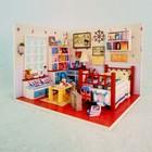 """Интерьерный домик - миниатюра, своими руками """"Спальня в морском стиле"""" со светом"""