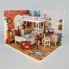 """Интерьерный домик - миниатюра, своими руками """"Спальня двух братьев"""" со светом"""
