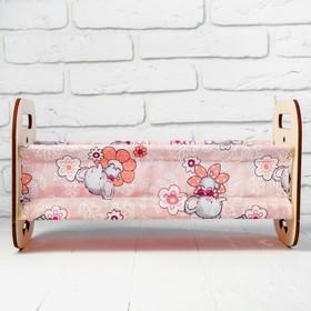 Кроватка деревянная для кукол «Катюша», 44 × 24 × 24 см, с постельным бельём