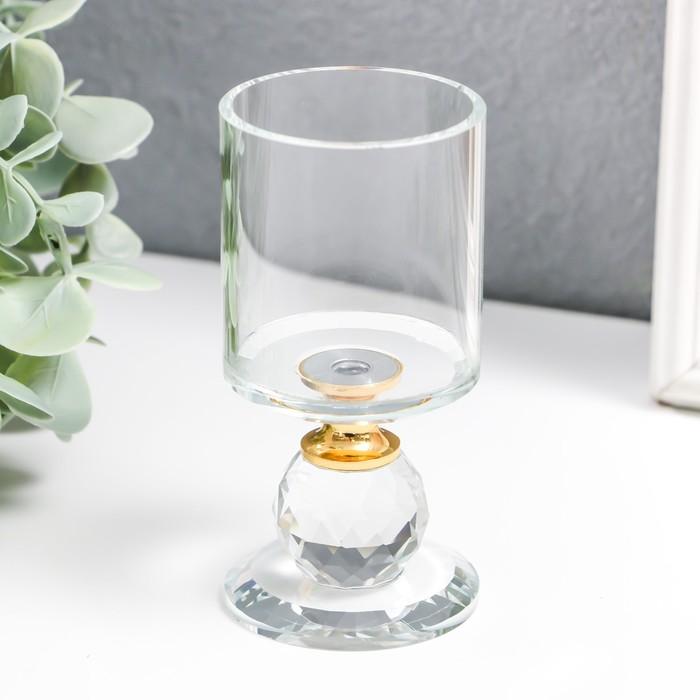 """Подсвечник стекло на 1 свечу """"Прозрачность"""" 9,2х5х5 см - фото 282121908"""
