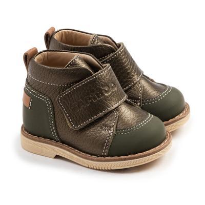 Ботинки детские арт. 24015, цвет зеленый, размер 18