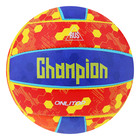 A volleyball ONLITOP Champion, size 5, 18 panels, machine stitching, 260 g, color yellow-blue