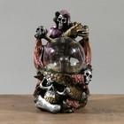 "Плазменный шар полистоун ""Дракон и скелет"" 14,5х15,5х25см"