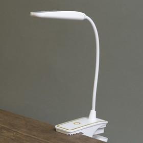"Лампа настольная прищепка сенсор 3 режима LEDх16 ""Золотая полоса"" USB, 3ААА 44х13,5х6 см"